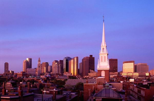 Christ Church in boston, steeple, Old North Church, Freedom Trail, Boston Freedom Trail, boston vacation, Old North church photo, freedom trail photo, boston skyline photo