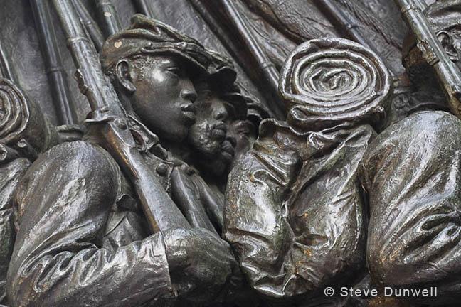 Shaw Memorial, 54th Regiment, Boston, MA (sculptor = St. Gaudens)